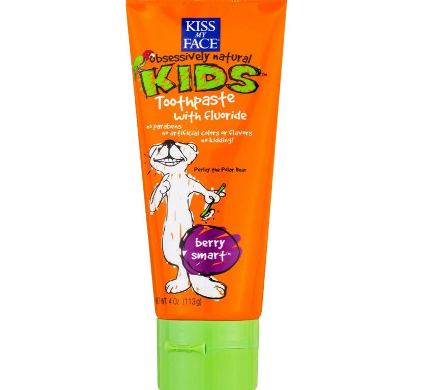 Obsessively Natural Kids Berry Smart toothpaste with fluoride